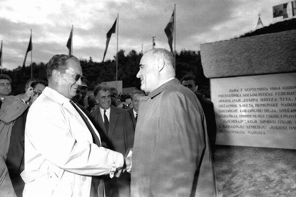 Gheorghe Gheorghiu Dej și Iosip Broz Tito, președintele R. S.F. Iugoslavia.
