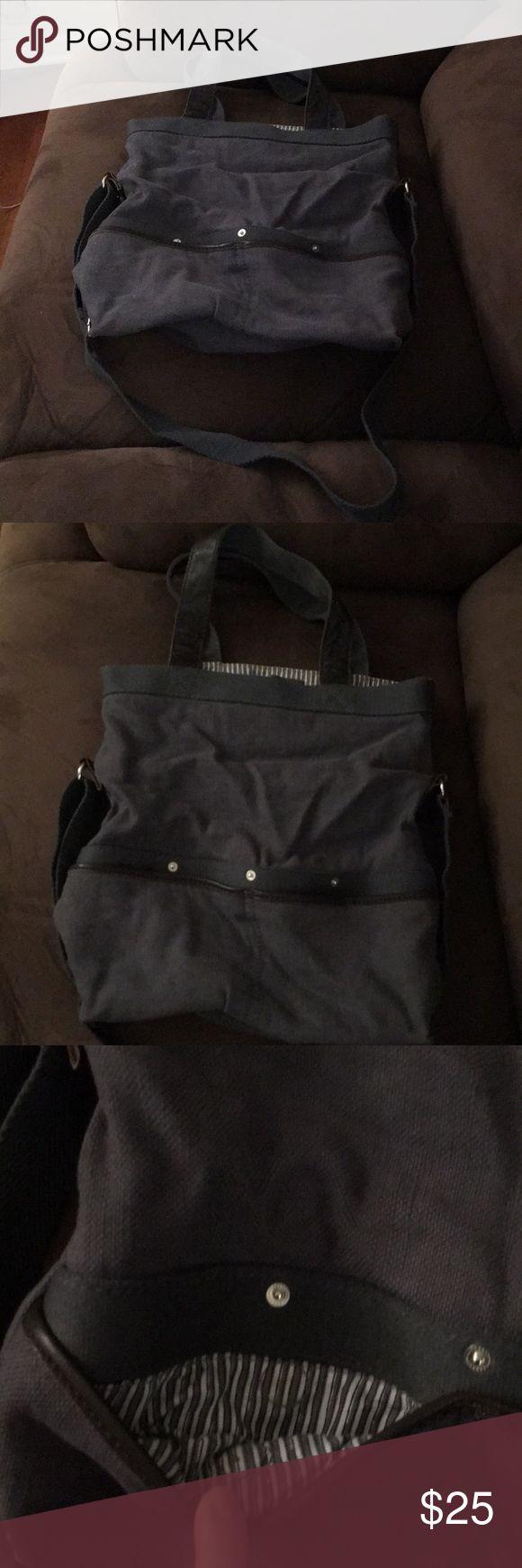 "Gap 15"" x 13"" denim bag multiple pockets in good condition. GAP Bags Totes"