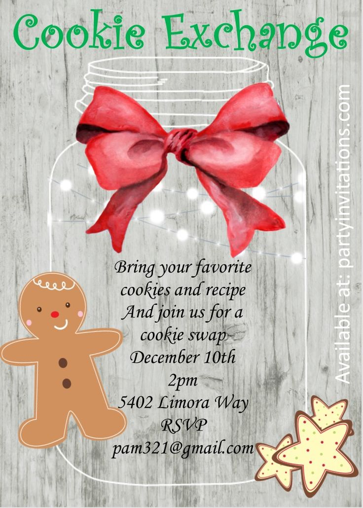 Christmas Cookie Party invitations NEW selections for