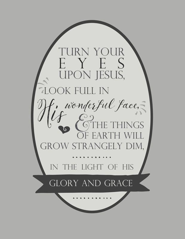 Hymn Lyrics | Turn Your Eyes Upon Jesus