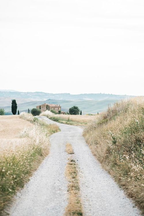 Country road, field, old barn, curvy, dirt road, beauty of Nature