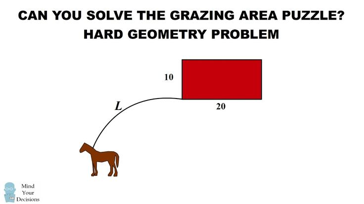 Can You Solve The Horse Grazing Puzzle? HARD Geometry Problem
