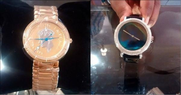 Elegant #watches made from a rare #coin and a stunning #peacockfeather were on display at #RoyalFables.