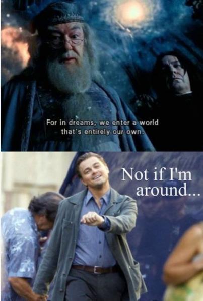 Simply Harry potter inception meme