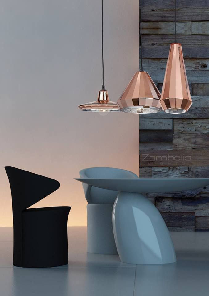 pendant  light  from  copper glass