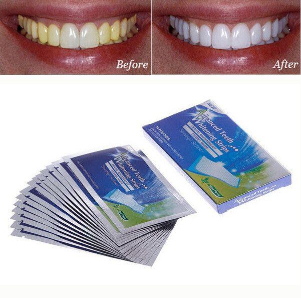 14Pairs Whiteig Strips Gel Oral Hygiee Clareador Detal Bleachig Tooth Whiteig Bleach White