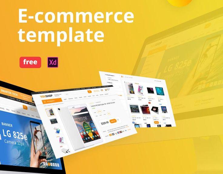Free E Commerce Shop Website For Adobe Xd Shopping Websites Adobe Xd Design Freebie