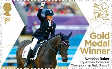 Paralympics Team GB Gold Medal Winners 1st Stamp (2012) Equestrian: Individual Championship Test, Grade II - Paralympics Team GB Gold Medal Winners