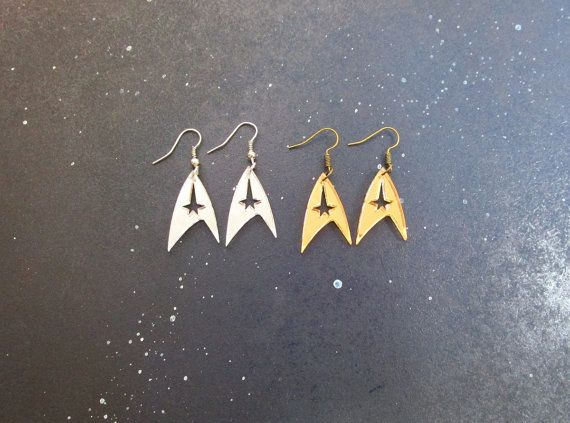 Star Trek Enterprise Starfleet Command Insignia Logo Earrings