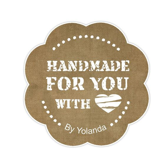 Handmade with love Tag Printable for gifts  Tag Made by ByYolanda, €2.80