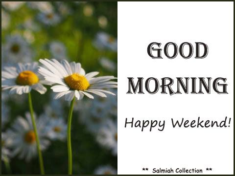 Flowers of Life: Good Morning Wish 18: Happy Weekend!