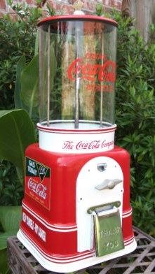 "*COCA-COLA ~ Vintage 1940's Victor Model V ""Coca Cola"" Gumball Machine Coca-Cola, Coke"