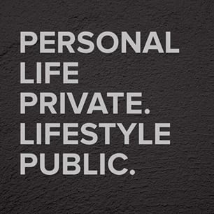 Personal life PRIVATE. Lifestyle PUBLIC. A private life is a HAPPY life - maite.ortiz via Instagram on Feb 28, 2015