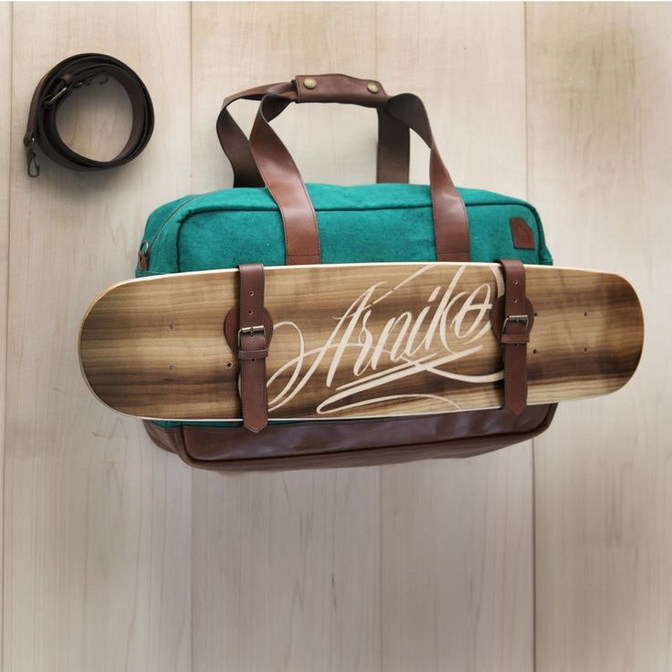 Board and skateboard bag.  So much want.