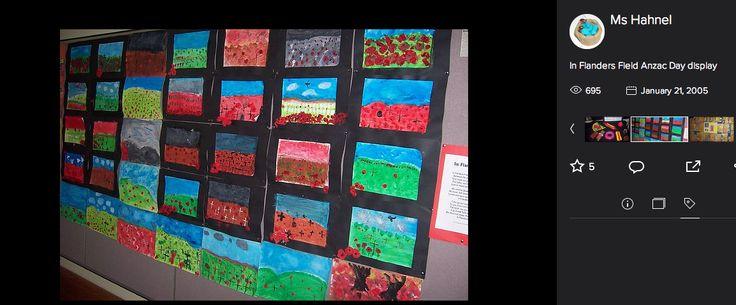 Art activity to tie in with In Flanders Field poetry work