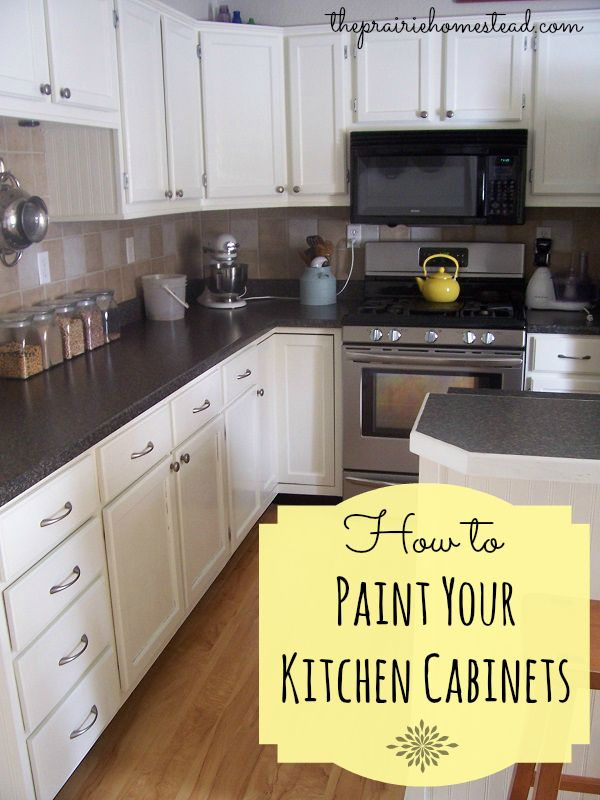 If you want to paint your wood kitchen cabinets white, check out this project that has lots of helpful tips. #painted_kitchen_cabinets #white_kitchens