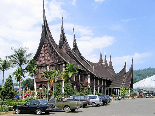 Rumah gadang traditional houses in Padang - Sumatra, Indonesia