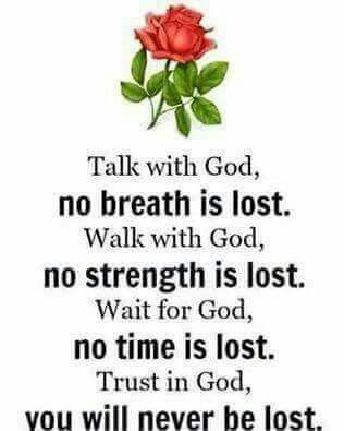 With God nothing is lost