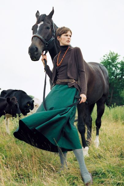 From Vogue shoots to the catwalk, chart Stella Tennant's fashion life here