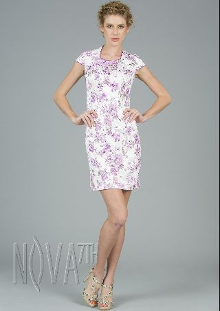 Short printing Floral cheongsam for  Party Costume