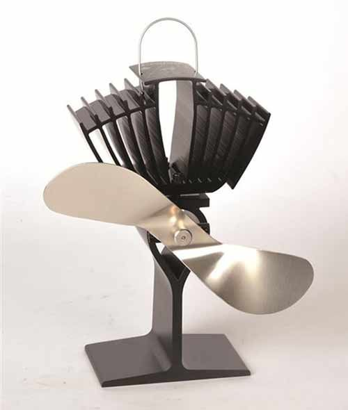 Large Heat-Powered Wood Stove Fan - This is awesome!!!!!!