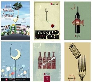Posters from the Charleston Wine & Food Festival