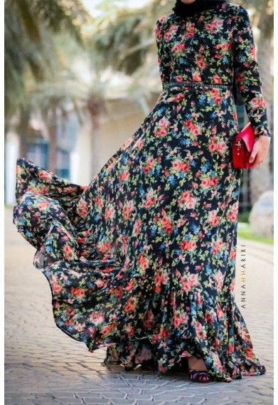 Floral Vintage  #modestfashion #modestdress #tzniutfashion #classicdress #formaldress #kosherfashion #apostolicclothing