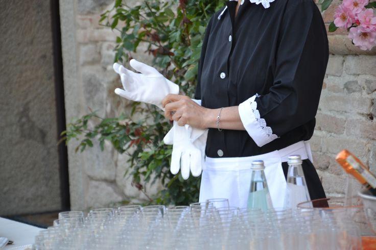 #guanti #bianchi #banqueting #luxury #food