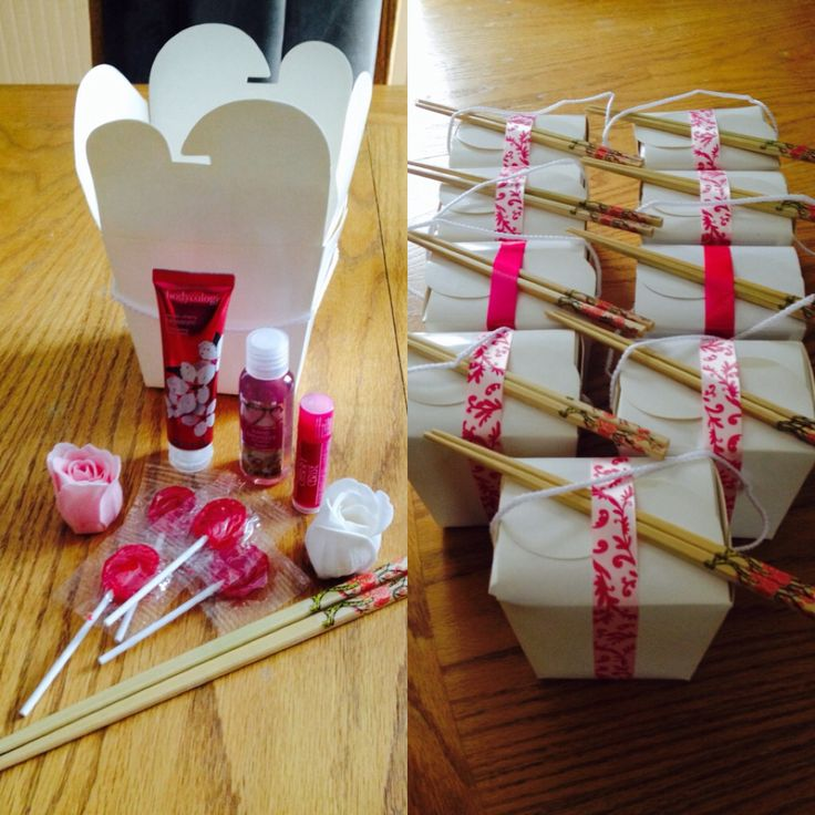 Japanese Cherry Blossom Sakura themed birthday party- gifts party favors