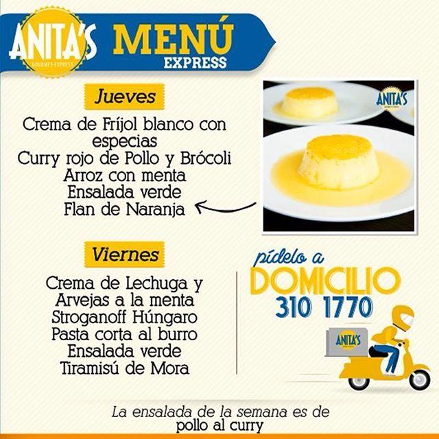 No es un plato común, es el #MenúExpress diseñado por la reconocida chef Anita Botero. ¡No te lo puedes perder! #AnitasExpress