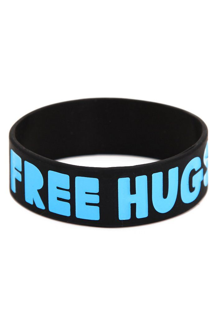 Rubber bracelets for passing out at club fairs (Warrior Pride)