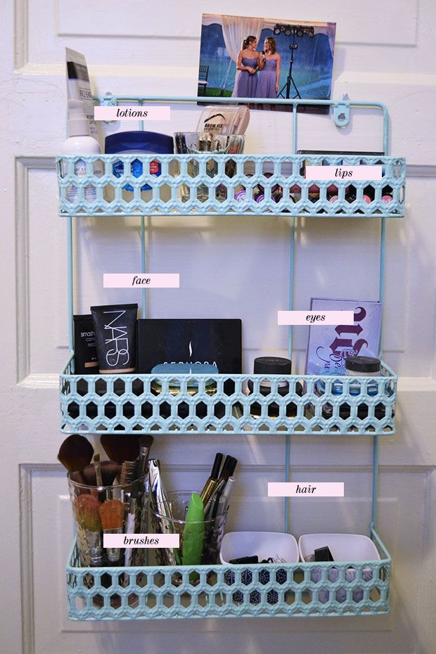 get organized your makeup small apartment organization small apartments and ties. Black Bedroom Furniture Sets. Home Design Ideas