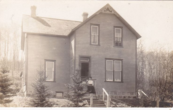 RP, Woman & Dog, Dutton´s Residence, Birtle, Manitoba, Canada, 1910