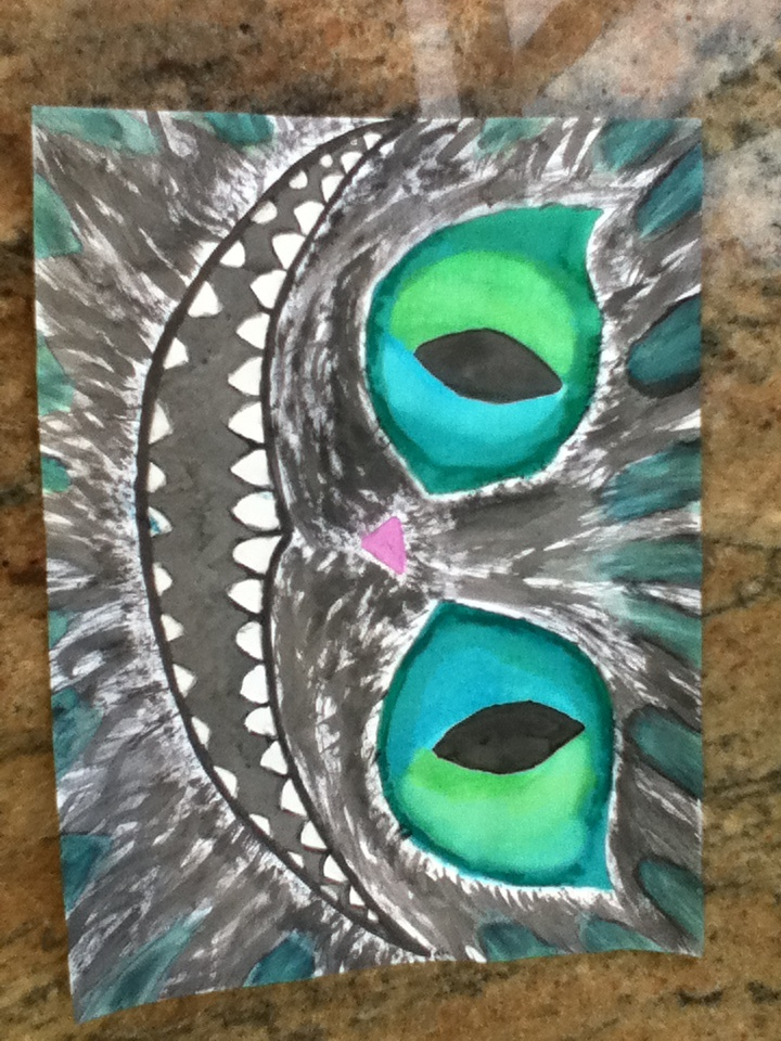 Water color Cheshire Cat I did | Art inspiration, Alice in ...