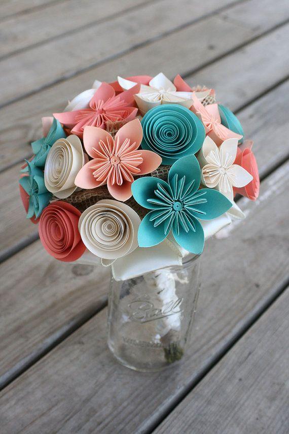 Alternative Wedding Bouquet  Paper Flower by PaperPerfectPetals