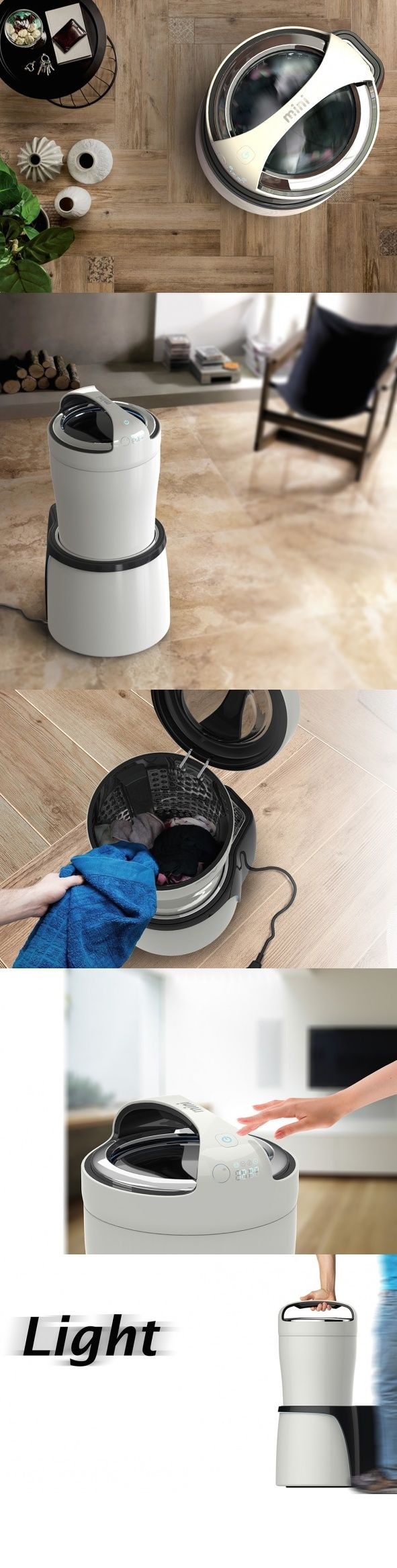 The #Mini #Washing #Machine is exactly as it sounds. Mini! Despite its diminutive size, it packs a powerful punch to small loads of dirty #laundry. #Design #YankoDesign #Innovative #Creative #Living #Home #Appliances