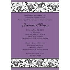 Nophoto First Communion Invitations for Girls - Storkie - Storkie