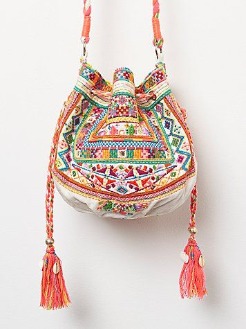 Free People Myla Embroidered Crossbody