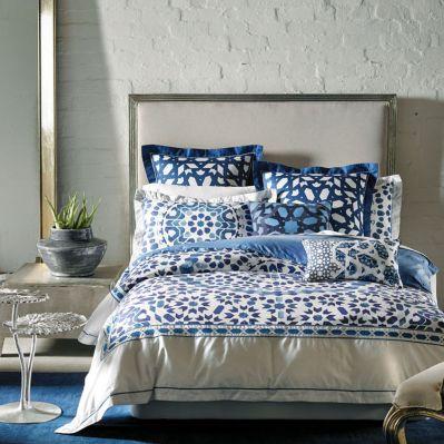Baraka Blue Quilt Cover & Accessories by Alex Perry | shopinside.com.au