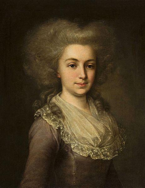 Portrait d'une jeune femme, 1790 artiste russe anonyme