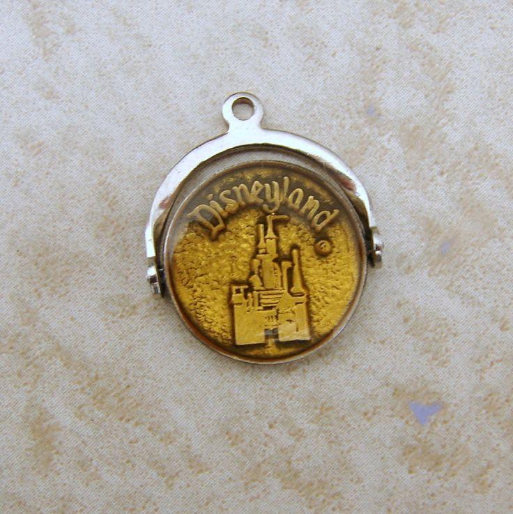 Vintage Sterling Silver Disneyland Castle Bubble Spinner Bracelet Charm #WaltDisneyProductions #Charms
