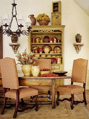 Rustic Sensibility: Dining Rooms, Country French, Decor Ideas, Country Style, Country Decor, French Country Home, Country Home Decor, French Style, French Country Dining