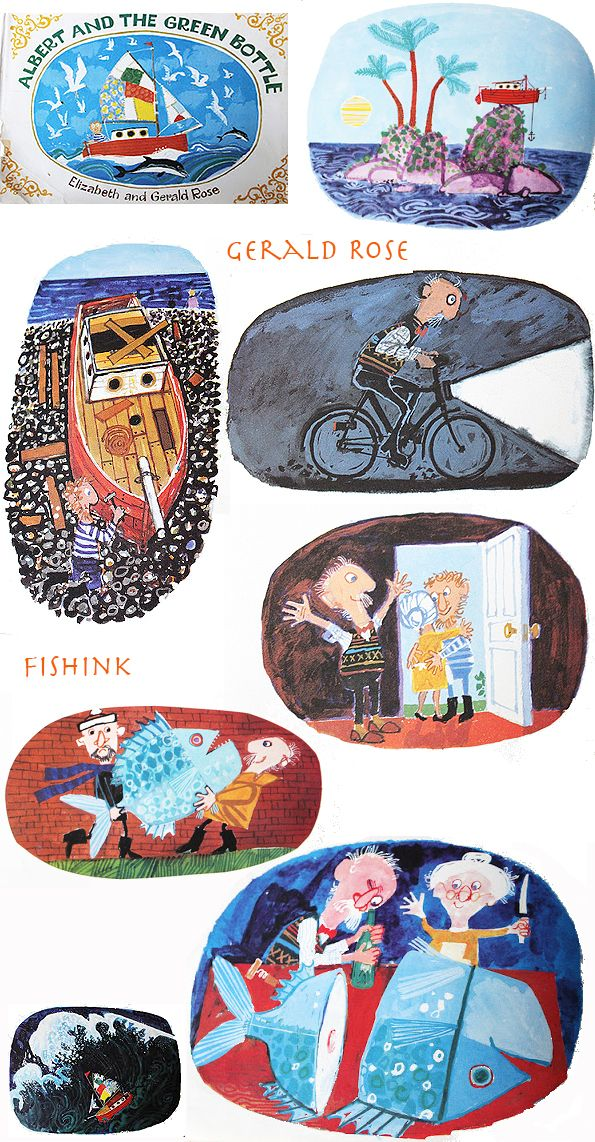 Fishinkblog 6261 Gerald Rose 6c. Great illustrator of the 60's and onward. Gerald now (2015) lives in Hove, East Sussex.