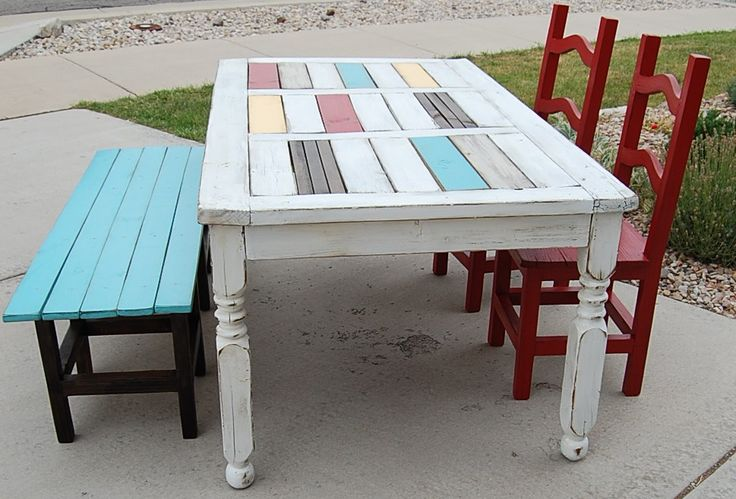 Upcycled dining table and chairs Apartment Ideas  : c3b5519f2e9b79aad6b583373d7d32e9 from pinterest.com size 736 x 499 jpeg 67kB