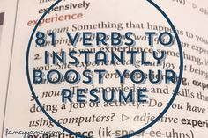 81 Verbs To Instantly Boost Your Resume