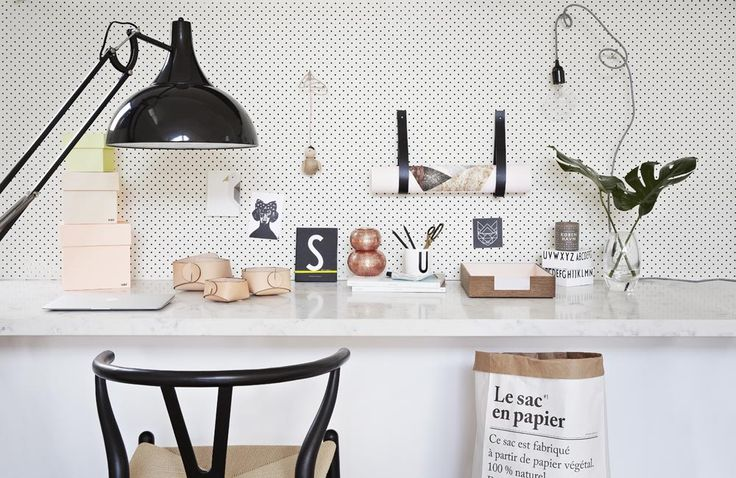 Norsu Interiors Office, featuring product by ferm LIVING, Mathilda Clahr, Kristina Krogh, OYOY Living Design, Louise Roe, Design Letters, HAY, Silke Bonde, Le Sac en papier, Skandinavisk, Kinfolk magazine, Studio Lisa Bengtsson and Louise Vilmar. Styling: Julia Green, Photography: Armelle Habib www.norsu.com.au