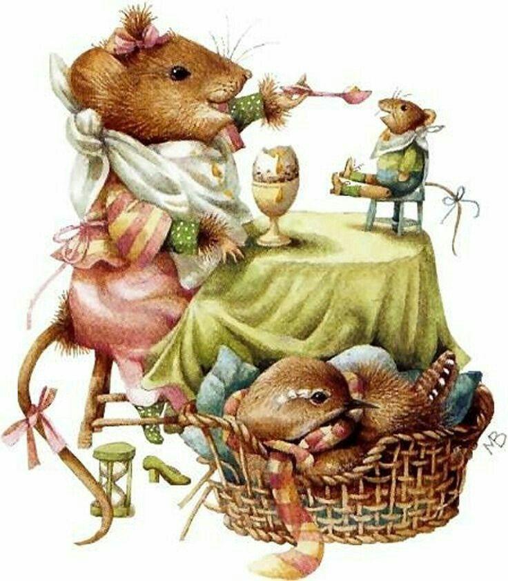 картинки красивых мышек для декупажа научился
