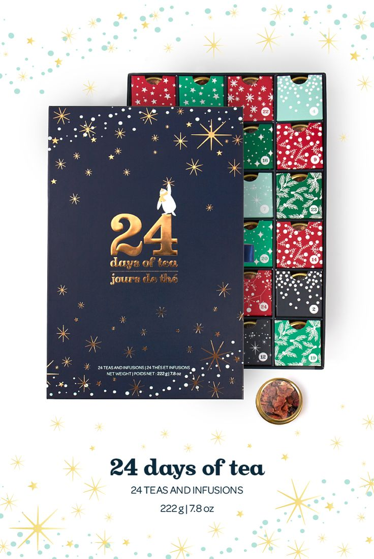 24 Days of Tea - With this tea-filled advent calendar, counting down the days has never been more delicious.