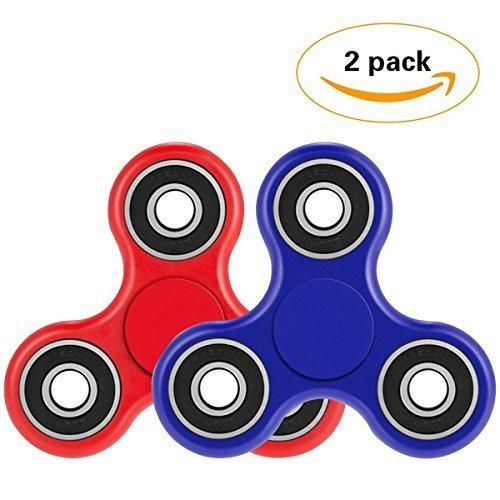 Fidget Spinner Toy Spin 2-3 Min EDC Hand Figets Spinners Prime Tri-Spinner for Kids Adults Relieves Stress Desktop Cool Gadgets Fiddle Spinner for ADD ADHD Anxiety Autism