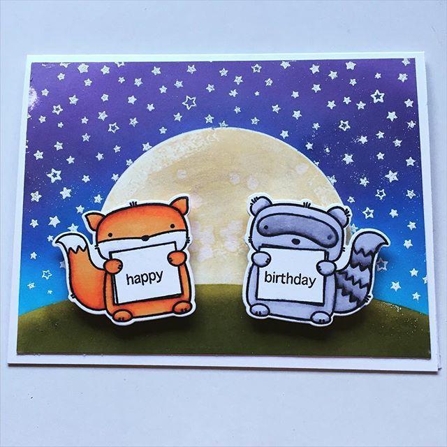 #card #cardmaking #crafty #stamping #distressink #embossing #mamaelephant #threeamigos #stars #bigmoon